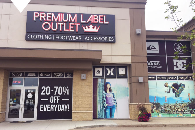 Premium Label Outlet Edmonton