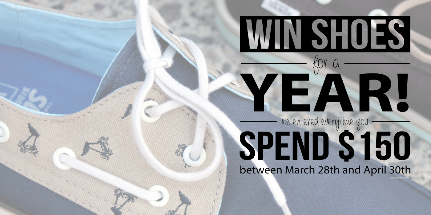 Win shoes for a year!