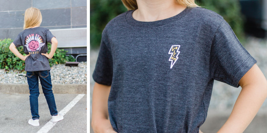 Volcom Tee and Silver Jeans
