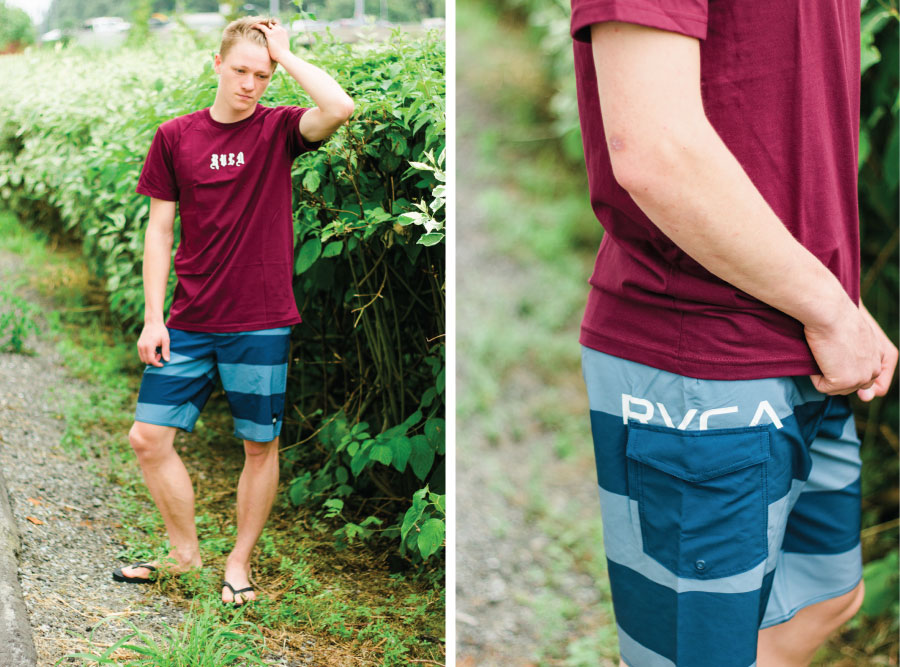 RVCA shirt and shorts