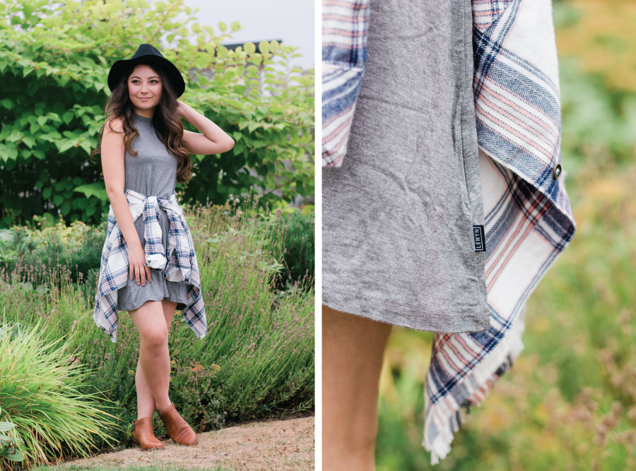 Lenyn Dress, Ripcurl plaid shirt, Timberland Boots