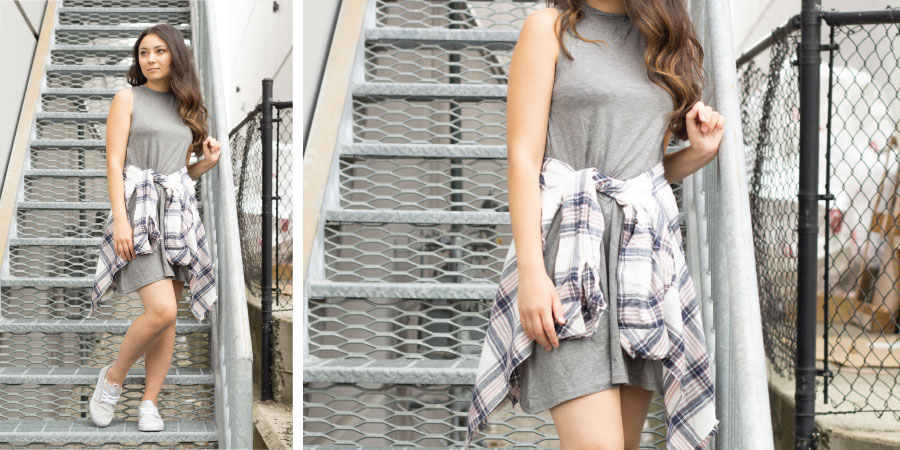 Lenyn Dress, Ripcurl plaid shirt, DC shoes