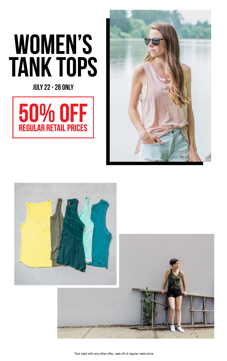DEal of the week, women's tank tops