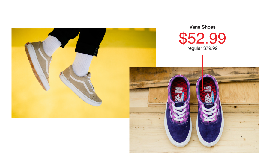 Vans Shoes at 30-70% off everyday!