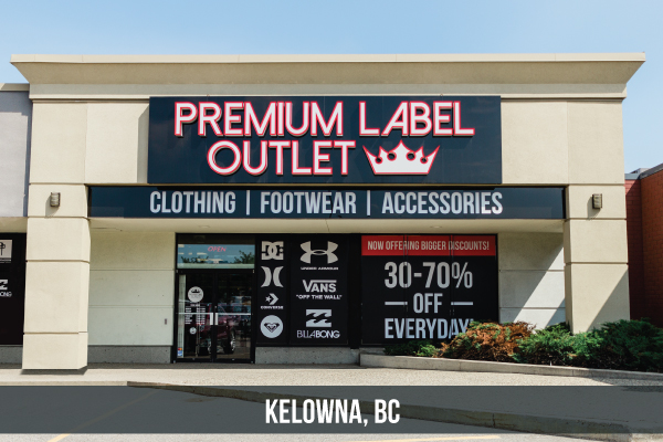 Premium Label Outlet Kelowna, BC