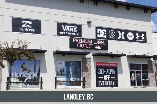 Premium Label Outlet Langley, BC