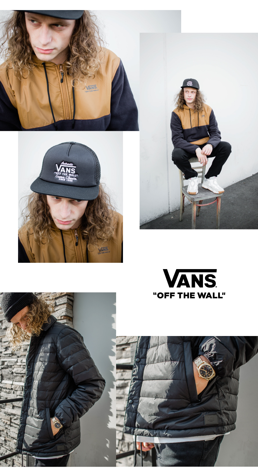 Mens vans hat and jacket