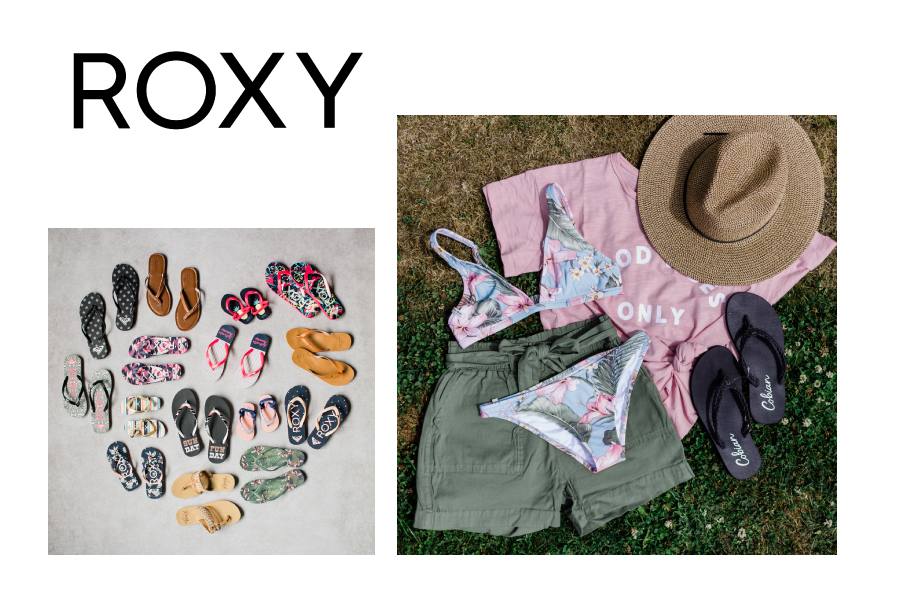 Roxy vacation wear and sandals